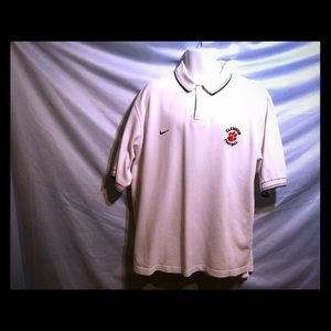 Nike polo with Clemson football emblem